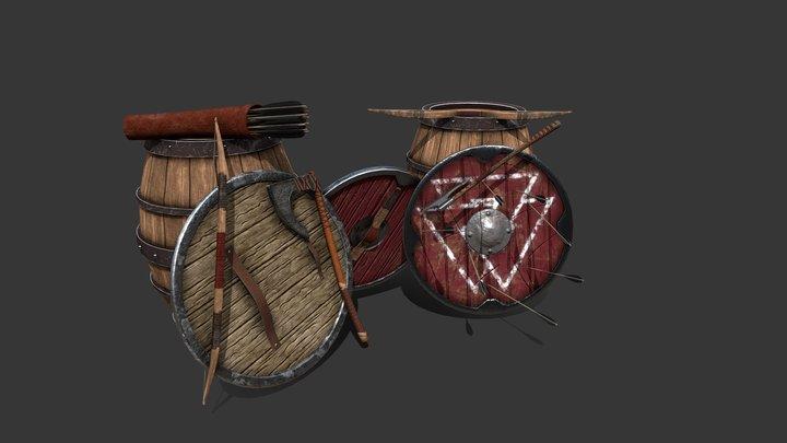 Viking Weapons 3D Model