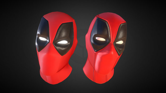 Deadpool Head Animated 3D Model