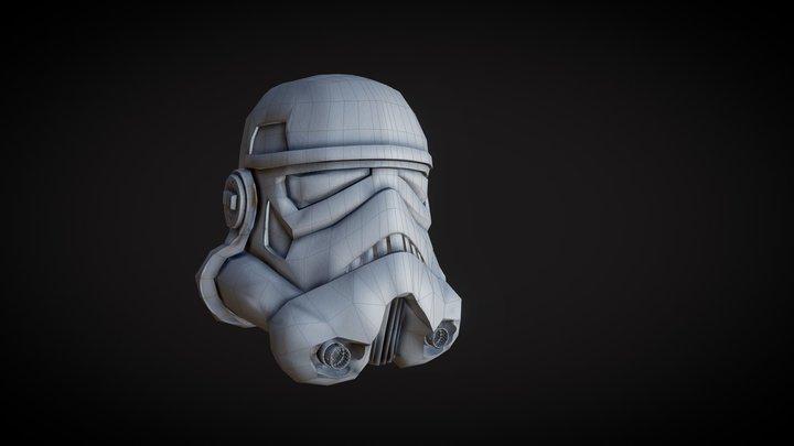 Low Poly StormTrooper Helmet 3D Model