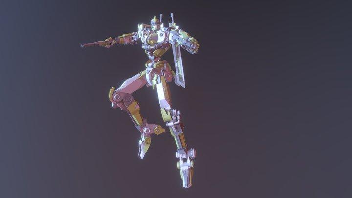 Green Y Giant Robot 3D Model