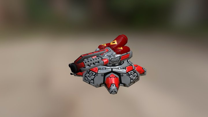 Fire turret 3D Model