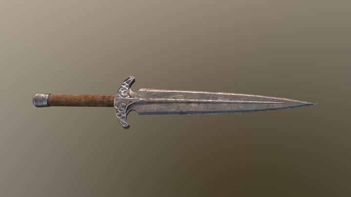 Skyrim Steel Dagger 3D Model