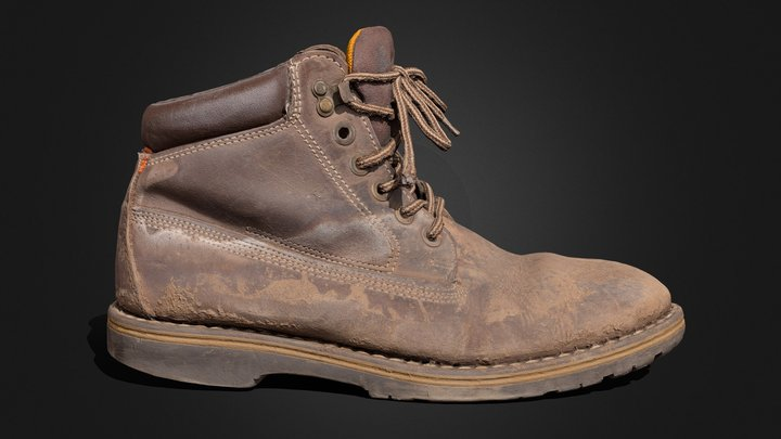 Old Dirty Boot 3D Model