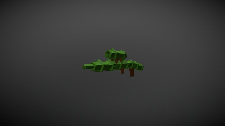 Low Poly Bamboo Sniper Rifle 3D Model