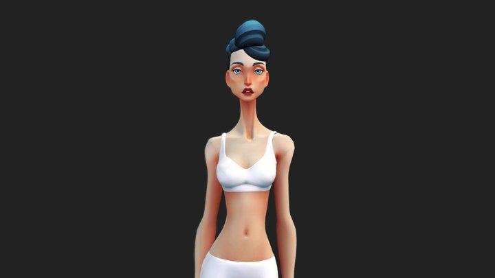 #00 _ BLUE HAIR 3D Model