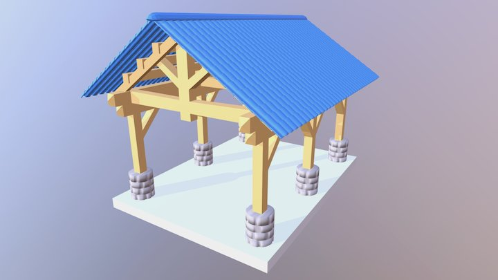 Viking Pavilion 3D Model