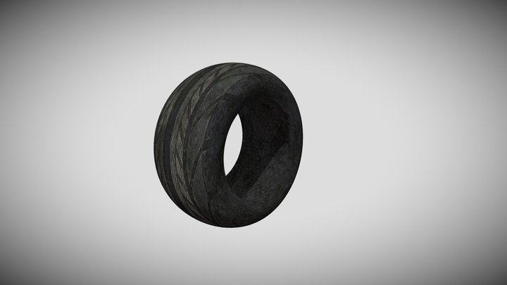 Tire Just Tire with PBR 3D Model