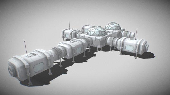 Desert planet colony. Day 1 3D Model
