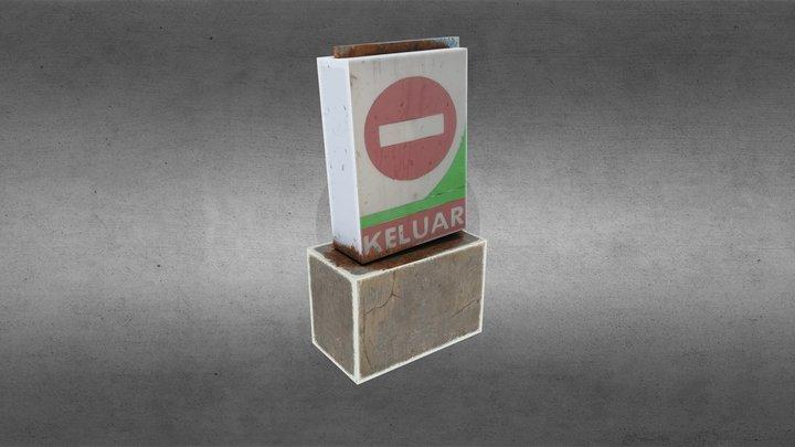 Sign Exit Pertamina 3D Model
