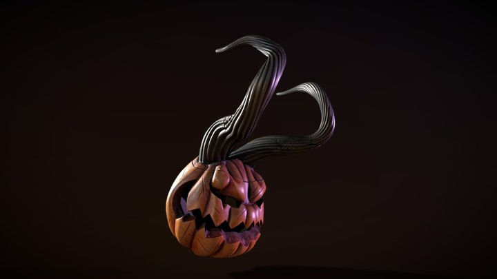Demon Pumpkin 3D Model