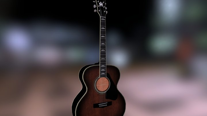 Yammaha Acoustic Guitar 3D Model