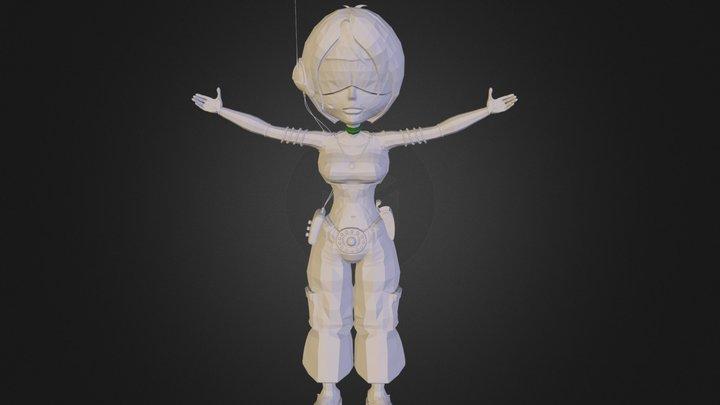 CartoonGirl.3DS 3D Model
