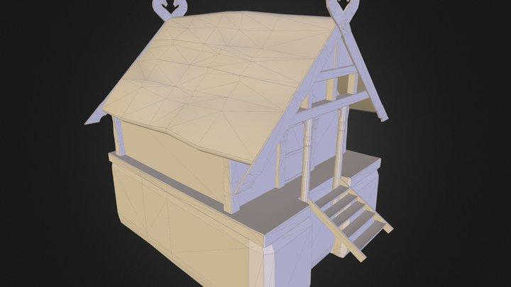 Sample Village House 3D Model