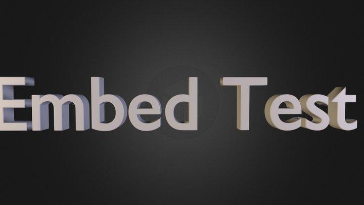 Embed Test 3D Model