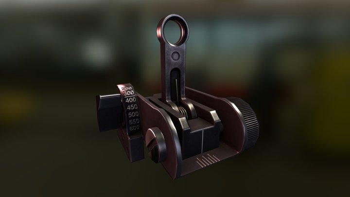 Matech BUIS flip up sight 3D Model