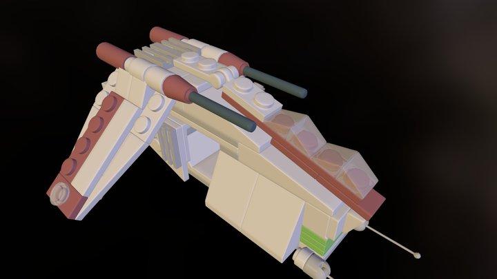 Lego Set 20010 - Clone GunShip 3D Model