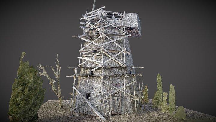 Bališkiai windmill 3D Model