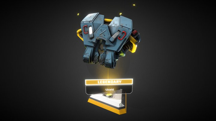Pathfinder's Shield ― Lootbox Scene 3D Model