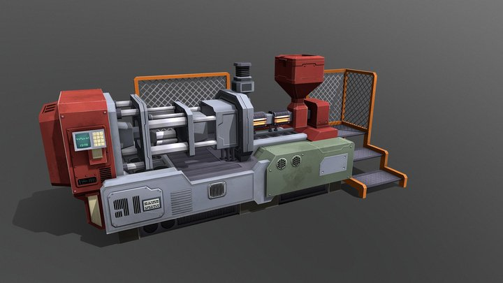 Plastic Injection Mold 3D Model