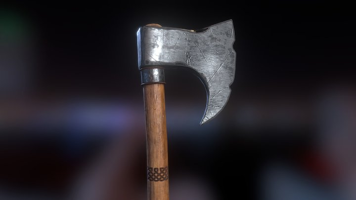 The Berserker's Axe 3D Model