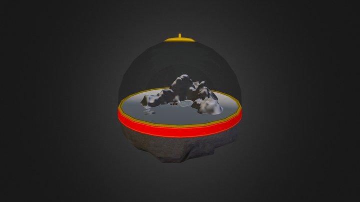 Mountaint Christmas Ornament v2 3D Model