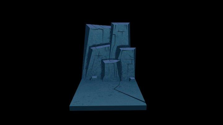 cave walls blue 3D Model