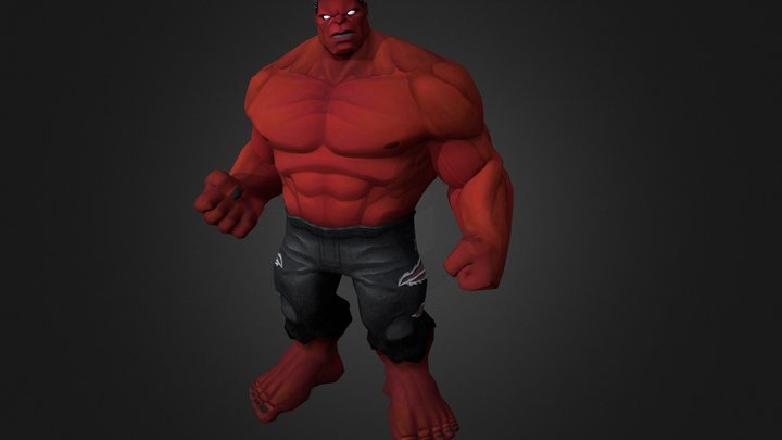 Red Hulk 3D Model