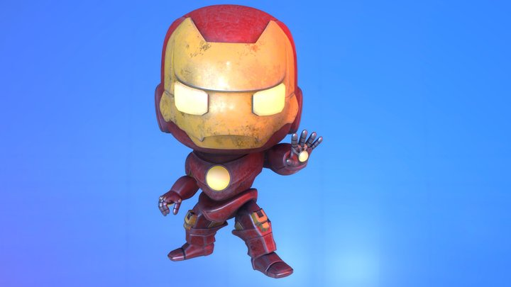 Iron Man_ Damaged 3D Model
