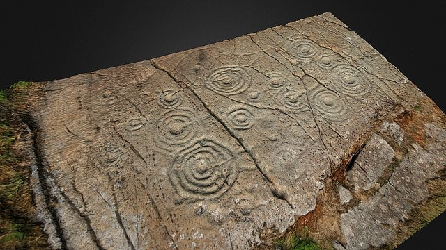 Prehistoric Rock Art, Cairnbann, Scotland 3D Model