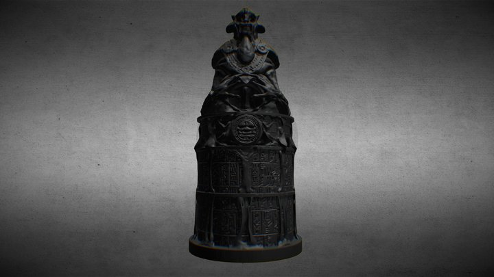 The Ferryman - Temple Column - Samurai A 3D Model
