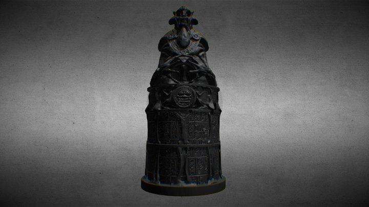 The Ferryman - Temple Column - Samurai A 3D Model