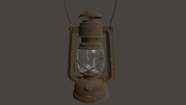 Rusty Kerosene Lantern 3D Model