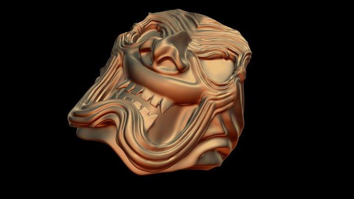 Onryo Mask Ring 3D Model