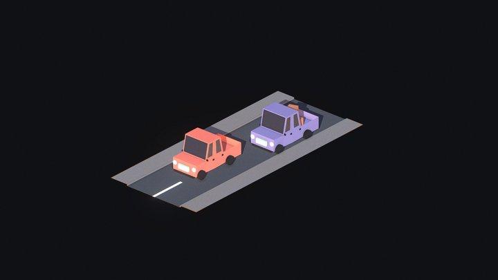 Mini Cars 3D Model