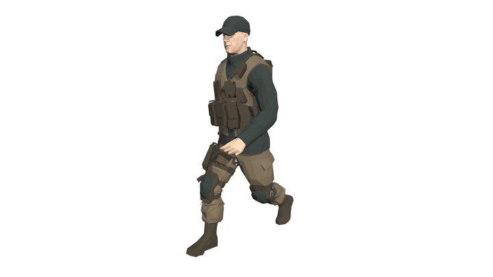 Poly Art Soldier 3D Model
