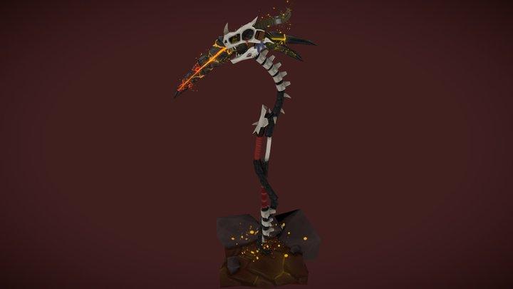 Scythe of Magmaros - Stylized Weapon 3D Model