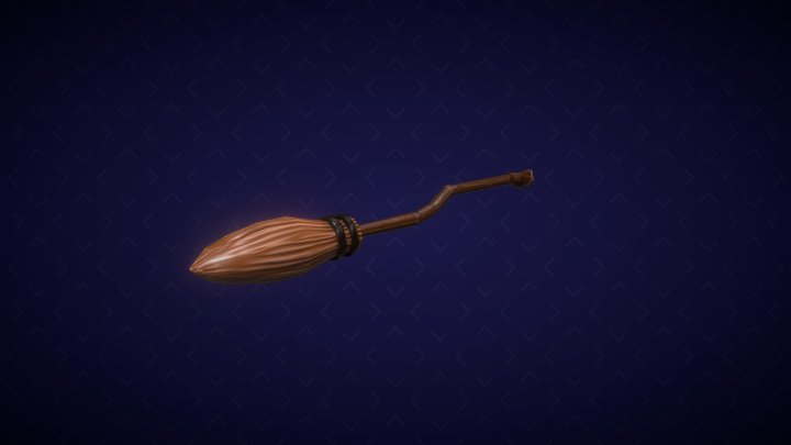 Stylized Broomstick 3D Model