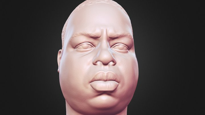Notorious B.I.G Biggie 3D printable portrait 3D Model