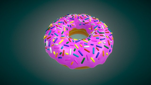 Le Donut 3D Model