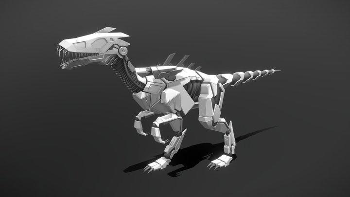 Masiakasaurus (Robot Raptor) - Rig Test 3D Model