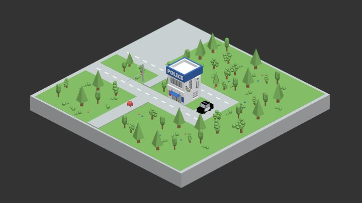 Police Station 3D Model
