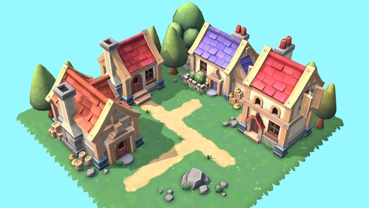 Fantasy Set 3D Model