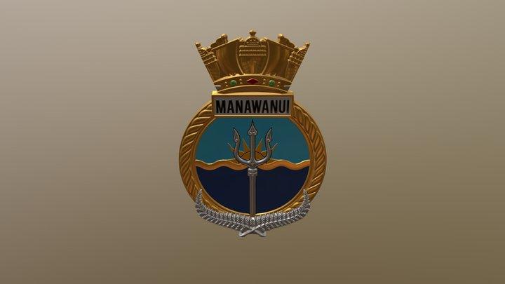 HMNZS Manawanui Crest 3D Model