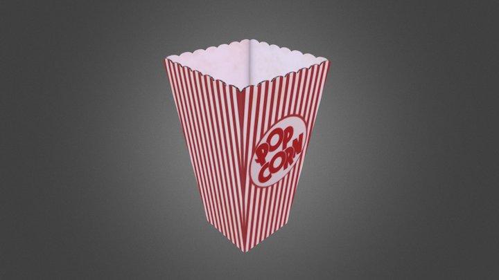 Popcorn box 3D Model