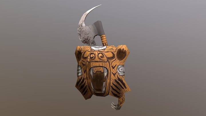 Beorn's Axe and Shield 3D Model