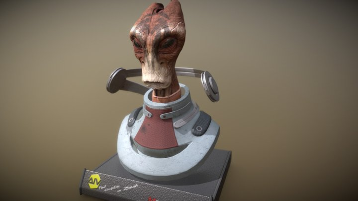 Mordin Solus from Mass Effect (Salarian) 3D Model