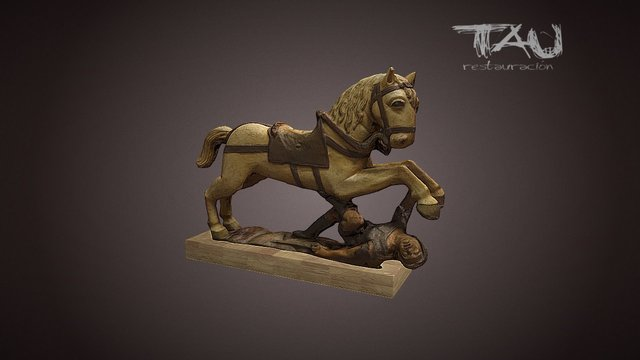 Tau restauracion - Caballo 3D Model