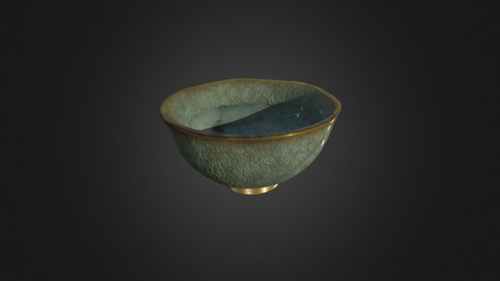 Chinese Teacup 3D Model