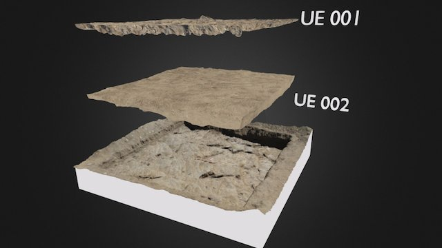 Archaeological levels reconstruction 3D Model