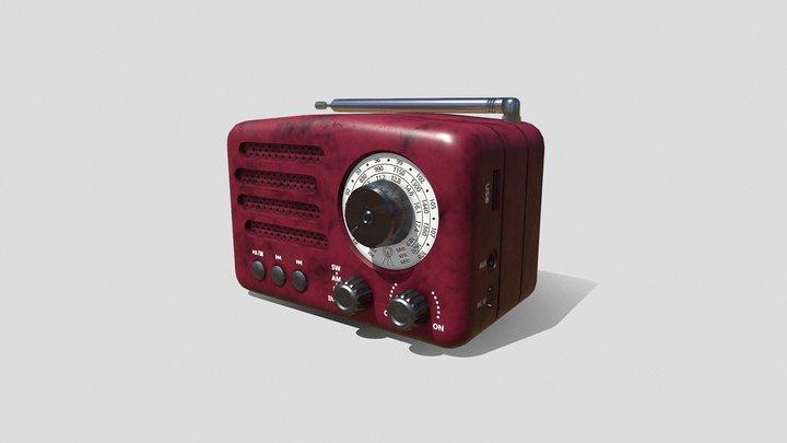 Red Radio 3D Model